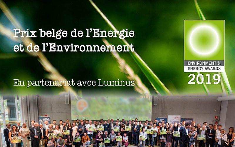 Prix belge de l'Énergie et de l'Environnement 2019