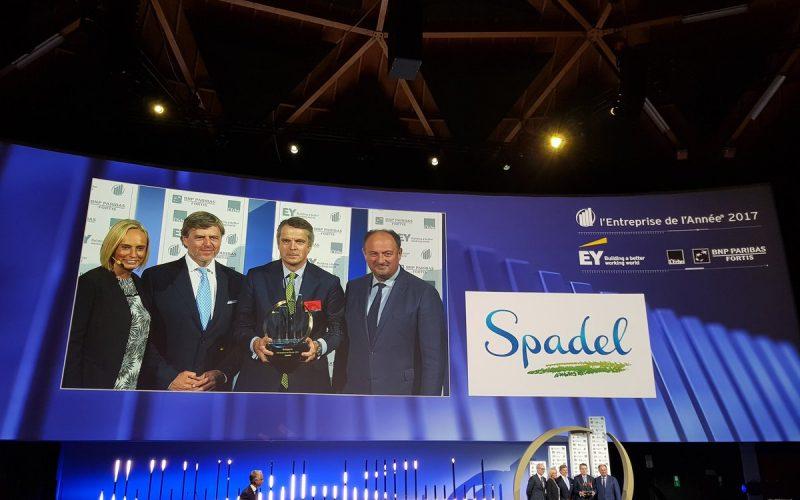 Spadel élue «L'Entreprise de l'Année®» 2017 !