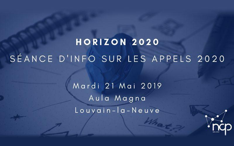 Horizon 2020 : séance d'information sur les appels 2020