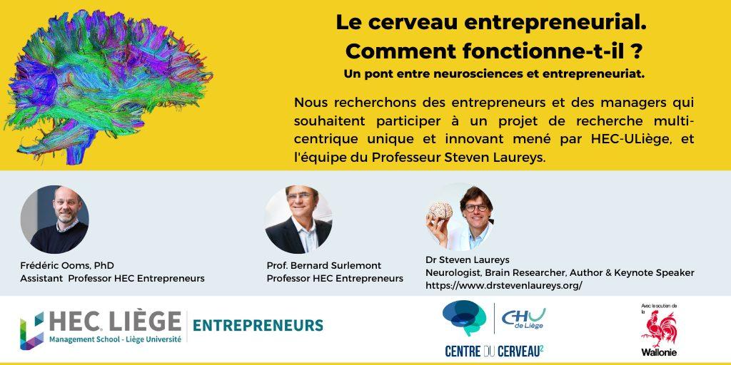 Participez à une première mondiale sur le fonctionnement du cerveau entrepreneurial...
