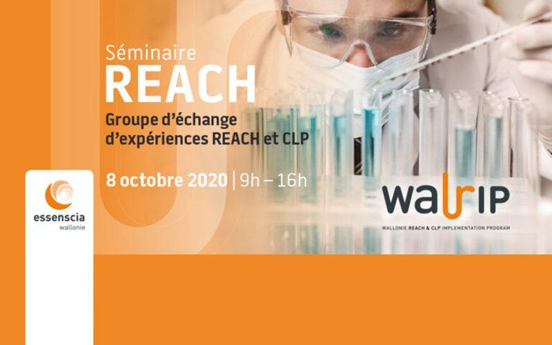 Séminaire «REACH» : clôture du programme Walrip et échange d'expériences REACH/CLP