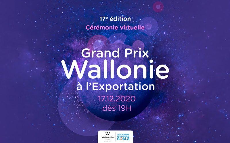 Cérémonie (virtuelle) de remise du Grand Prix Wallonie à l'Exportation