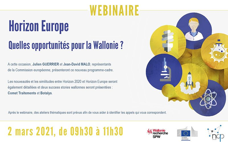 Lancement du programme Horizon Europe en Wallonie